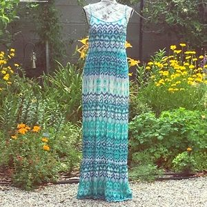 Long Tie Dye Summer Sundress